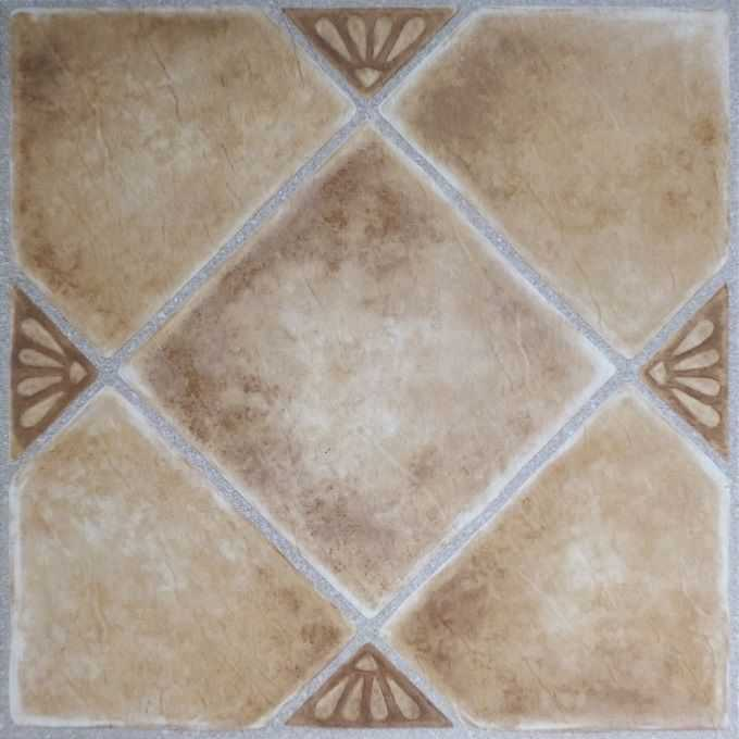Achim Nexus Beige Clay Diamond with Accents 12x12 Self Adhesive Vinyl Floor Tile - 20 Tiles/20 sq. ft.