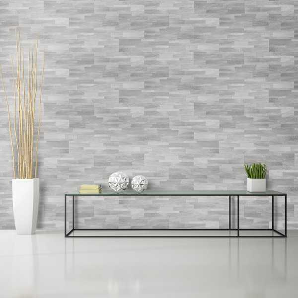 Bolder Stone ™ 6in x 24in Self Adhesive Stone Wall Tile - Smoke - 6 Tiles/6 sq Ft.