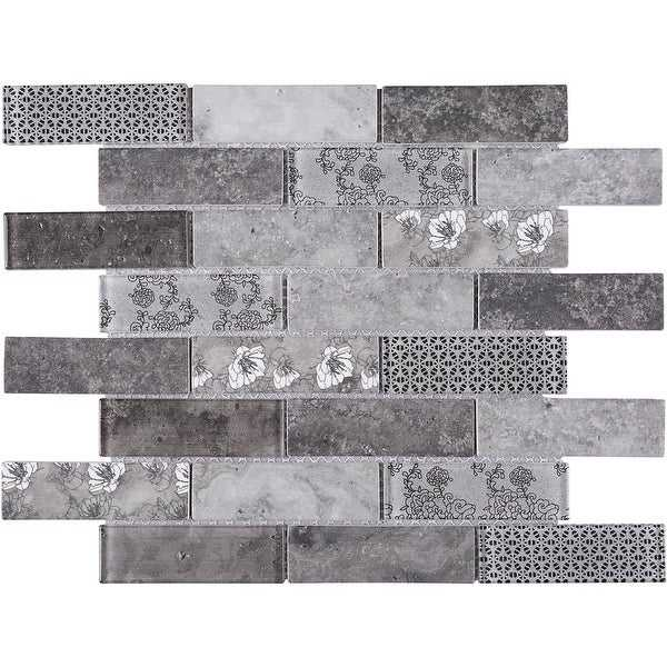 TileGen. Recycle Mixed Material Tile in Gray Wall Tile (11 sheets/10.56sqft.)