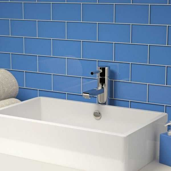 Azure Subway Tiles (5.5 Square Feet) (44 Pieces per Unit)