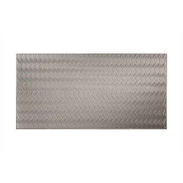 Fasade Current Vertical Argent Silver 4 x 8-foot Wall Panel