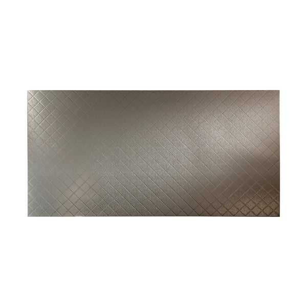 Fasade Quilted Galvanized Steel Wall Panel (4' x 8')
