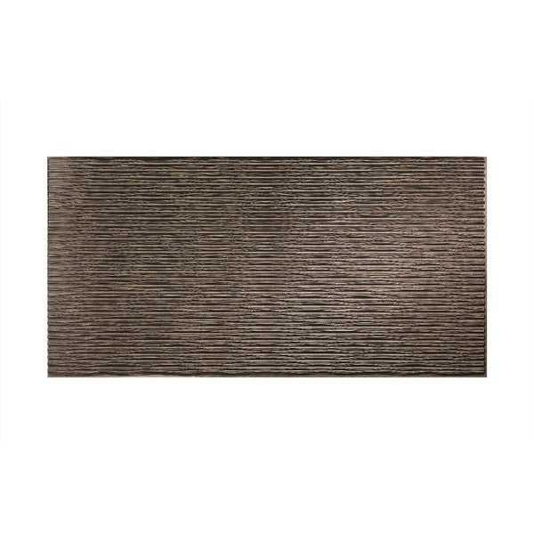 Fasade Dunes Horizontal Smoked Pewter 4-foot x 8-foot Wall Panel