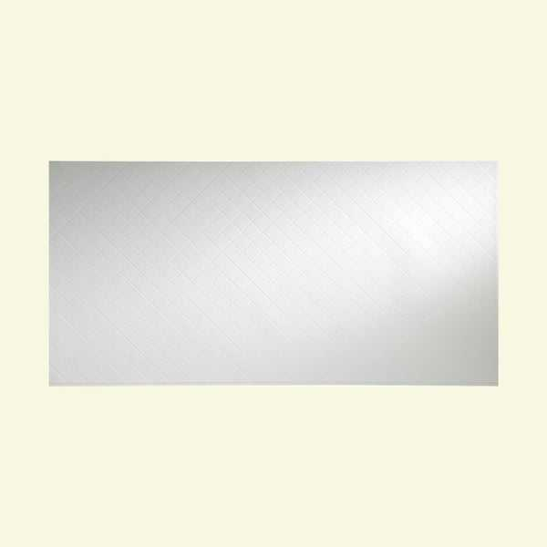 Fasade Quilted Matte White Wall Panel (4' x 8')