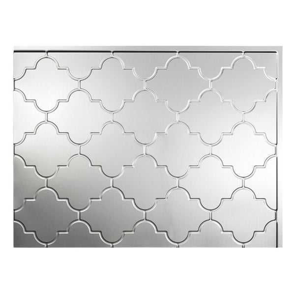 Fasade Monaco Brushed Aluminum 18-square Foot Backsplash Kit