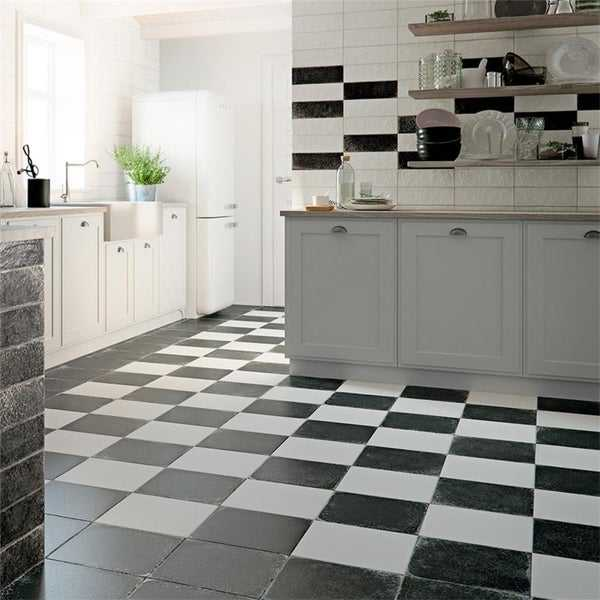 SomerTile 12.13x12.13-inch Laima Nero Porcelain Floor and Wall Tile (15 tiles/15.95 sqft.)