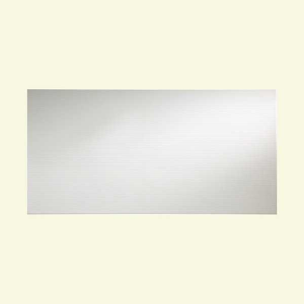 Fasade Rib Matte White Wall Panel (4' x 8')
